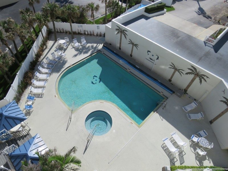 View Of Pool From Living Room Balcony (Custom)